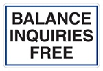 "GetBranded.com-3"" x 2"" Balance Inquiries Free Decal"