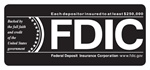 "3.5"" X 1.5"" FDIC Black Background-GetBranded"