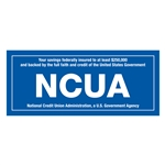 NCUA Sided Laminated Decal  7 x 3 inches