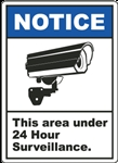24 Hour Surveillance Decal