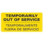 Temporarily Out of service Decal