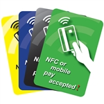 NFC or Mobile Pay Accepted (2x3) - Pump Decals