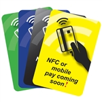 NFC or Mobile Pay Coming Soon (2x3) - Pump Decals