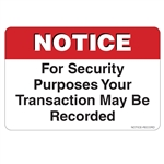 "GetBranded.com-2"" X 3"" Your Transaction May be Recorded"
