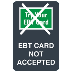 "GetBranded.com-2""x3"" EBT Card Not Accepted - Grey"