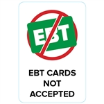 "GetBranded.com-2""x3"" EBT Card Not Accepted - White"