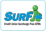 Surf Surcharge Free ATM Sticker
