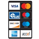 "GetBranded.com 3"" x 4.75"" Network ATM Decal, Displaying Eight (8) Networks CUSTOMIZABLE"