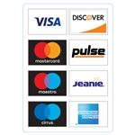 "GetBranded.com-3.5"" x 5""  Network ATM Decal, Displaying Eight (8)) Networks CUSTOMIZABLE"