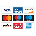 "GetBranded.com 3.75"" x 2.65"" Network ATM Decal, Displaying Nine (9) Networks CUSTOMIZABLE"