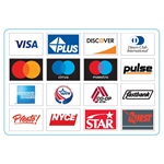 "GetBranded.com 5.25"" x 3.75"" Network ATM Decal, Displaying Sixteen (16) Networks CUSTOMIZABLE"