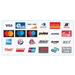 "GetBranded.com 8.5"" x 4.125"" Network ATM Decal, Displaying Twenty-four (24) Networks CUSTOMIZABLE"