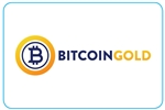 "GetBranded.com-3"" x 2"" Single Network Decal, Bitcoin Gold"