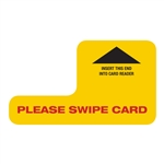 "Point of Sale Credit Card Reader Insert - ""Please Swipe Card"""