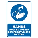 Wash Hands Before Starting Work Decal Sticker