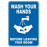 Wash Hands Before Leaving this Room Decal Sticker