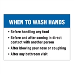 When to Wash Your Hands Decal Sticker
