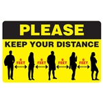"8"" x 5"" Keep Your Distance Decal"