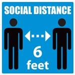 "8"" x 8"" Social Distance Decal"