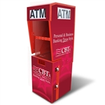 TPI Outdoor ATM Kiosk with Lighted Topper Wrap