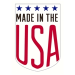 "Made in the USA decal 1.5"" x 2.25"""
