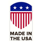 "Made in the USA Decal - 1.75"" x 3"""