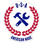 "Made in the USA Decal - 2.5"" x 3"""