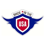 "Made in the USA Decal - 2"" x 1.25"""