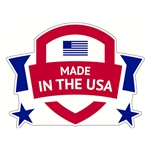 "Made in the USA Decal - 2"" x 1.5"""