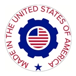 "Made in the USA Decal - 2"" x 2"" Circle"