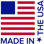 "Made in the USA Decal - 4"" x 4"" Square"