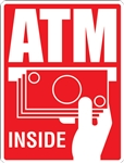 2 x 3 Glossy Universal ATM Inside Decal