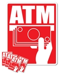 Glossy Universal ATM Decal Kit