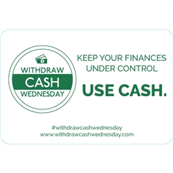 3x2 Keep your finances under control, use cash, White