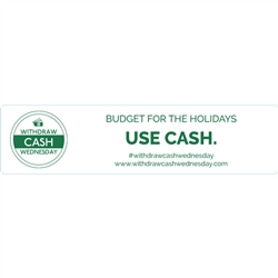 Withdraw Cash Wednesday 4x1 Budget For The Holidays, White