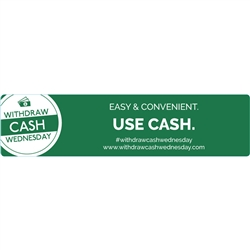 Withdraw Cash Wednesday 4x1 Easy and Convenient, Use cash, Green