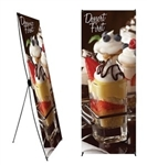 Banner Stand 31.5 in x 79 in with Graphic