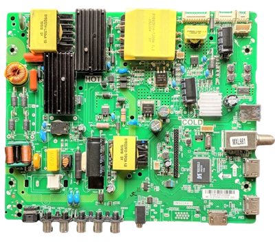 02-SPS39A-C010000 Sanyo Main Board/Power Supply, 02-SPS39A-C010000, TP.MS3393.PD789, 3MS93AX11, FW48D25T