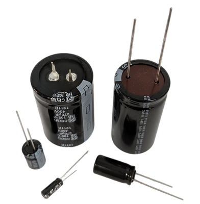 100uf 35v Electrolytic Capcitor, Radial Lead, 105c High Temp