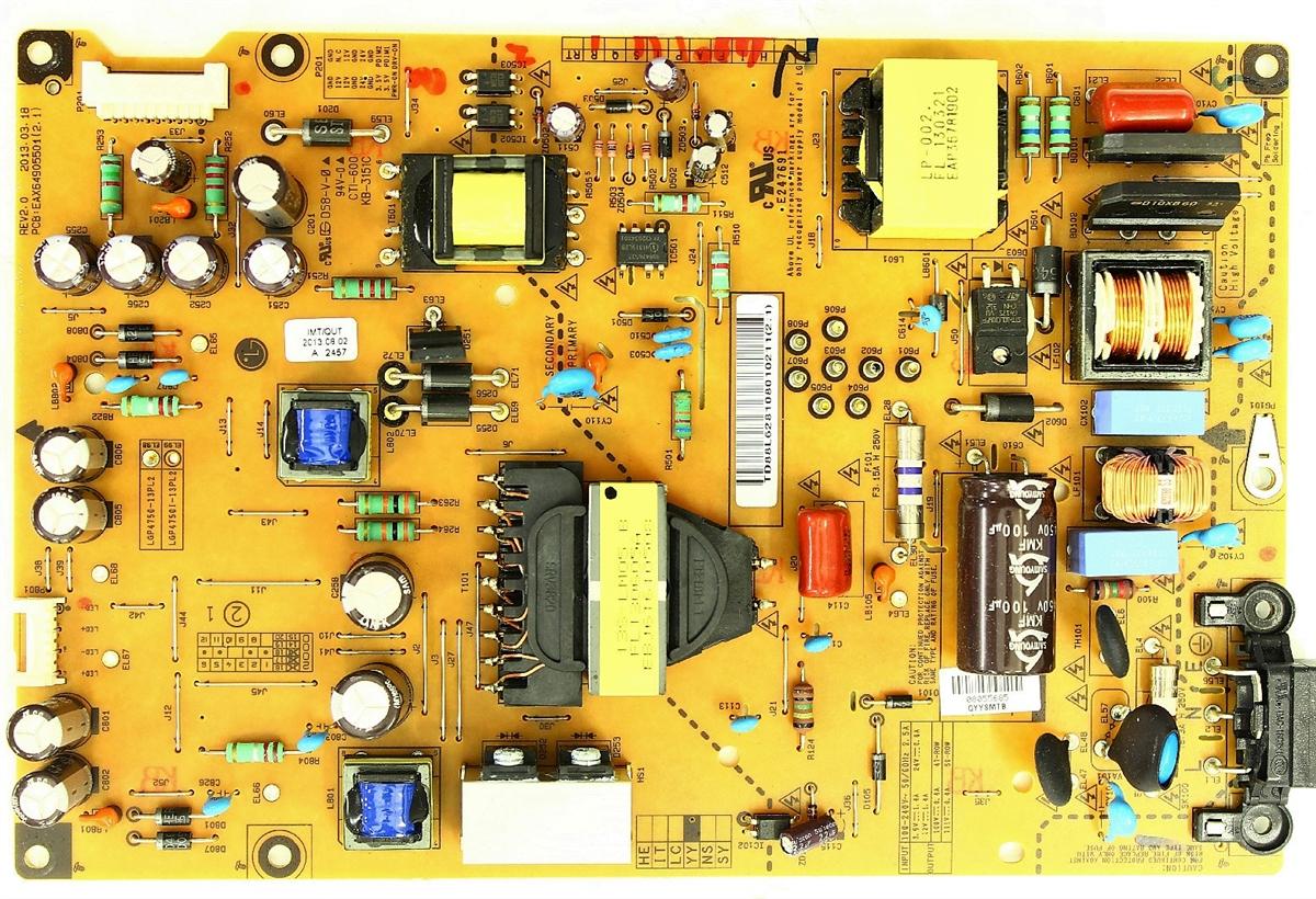 Pukido NEW original for LG EAY62810801 EAX64905501 LGP4750-13PL2 47LN5454/_CT Power Board Plug Type: Universal