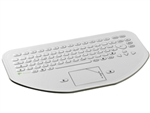 Used for Infection Control & Equipment Protection, the Mini-CleanBoard Flat-Surface Touchpad Keyboard 500-100-10 can be cleaned by washing with soap and water, sanitized or disinfected.