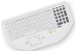 Used for Infection Control & Equipment Protection, the CleanBoard Flat-Surface Touchpad Keyboard 653-030-01 can be cleaned by washing with soap and water, sanitized or disinfected.