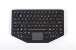 iKey Dual-Connectivity, Bluetooth & USB Mobile Slim Keyboard Touchpad (Bluetooth) & (USB) (Black) | BT-870-TP-SLIM