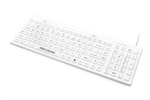 Used for Infection Control & Equipment Protection, the D-COOL Washable Standard Backlit Full-size Keyboard DCOOL-W5 can be cleaned by washing with soap and water, sanitized or disinfected.