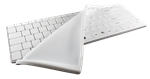 Used for Infection Control & Equipment Protection, the Its Cool Fitted White Keyboard Drape DRAPE/IT/US can be cleaned by washing with soap and water, sanitized or disinfected.