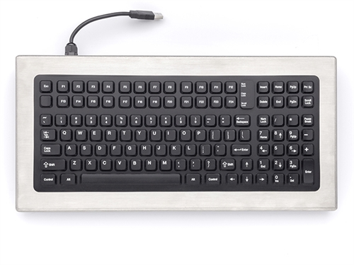 iKey Desktop Stainless Steel Keyboard (PS2) (Stainless Steel) | DT-1000-PS2