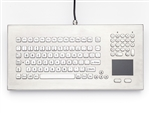 iKey Desktop Stainless Steel Keyboard Stainless Steel keys and Touchpad (PS2) (Stainless Steel) | DT-102-SS-PS2