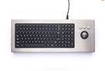 iKey Desktop Stainless Steel Keyboard Integrated Trackball (USB) (Stainless Steel) | DT-2000-TB-USB