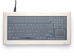 iKey Desktop Stainless Steel Membrane Keyboard Touchpad (USB) (Stainless Steel) | DT-5K-MEM-TP-USB