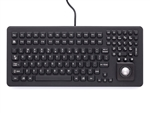 iKey Keyboard Integrated Trackball (USB) (Black) | DU-5K-TB-USB